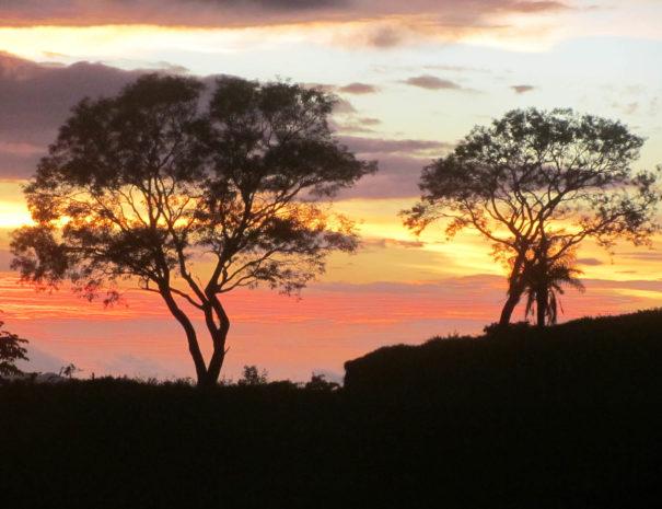 rincon de la vieja coucher de soleil